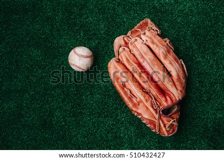 baseball glove, ball. Royalty-Free Stock Photo #510432427
