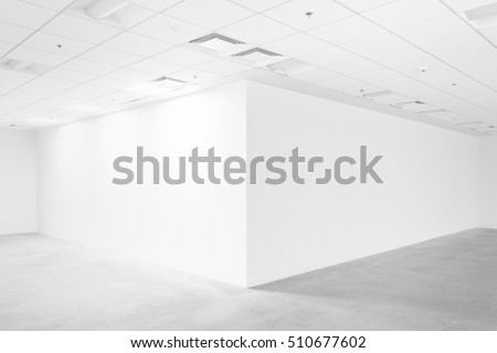 White empty space with ceiling and floor, loft style Royalty-Free Stock Photo #510677602