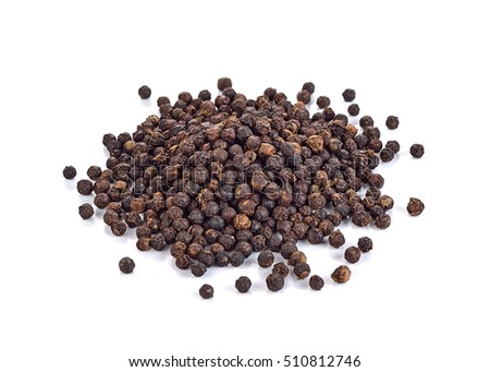 Black pepper was placed on a white background. #510812746
