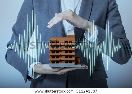 earthquake-resistant  house design concept Royalty-Free Stock Photo #511241587