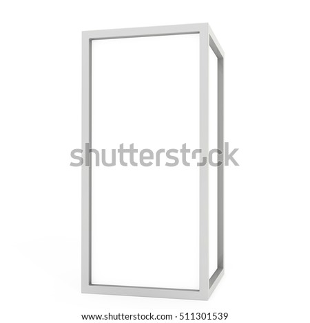 Blank Lightbox On white Background 3D rendering. #511301539