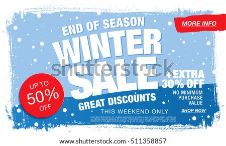 Winter sale banner. Vector illustration Royalty-Free Stock Photo #511358857