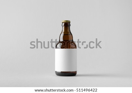 Beer Bottle Mock-Up - Blank Label Royalty-Free Stock Photo #511496422