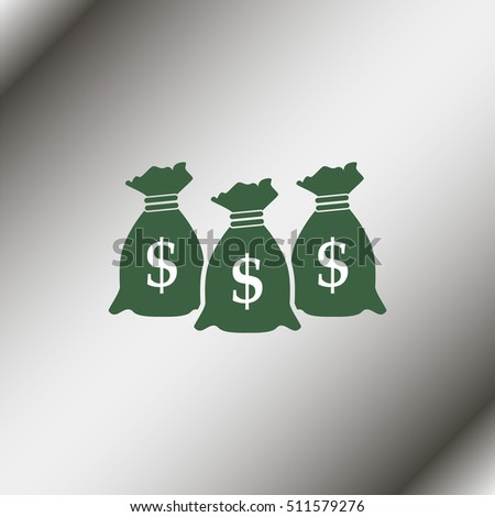Money icon with three bags. #511579276
