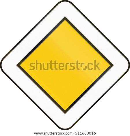 Belgian regulatory road sign - Priority road. #511680016
