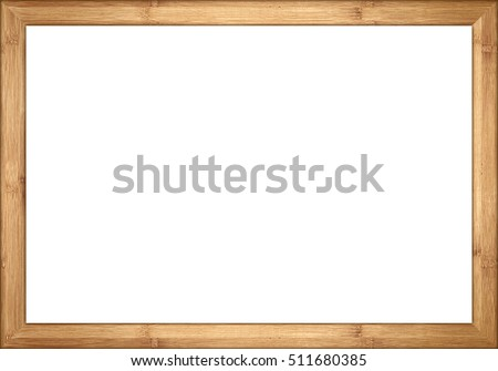 3to2 ratio bamboo wooden retro vintage  picture or blackboard chalkboard frame isolated on white background