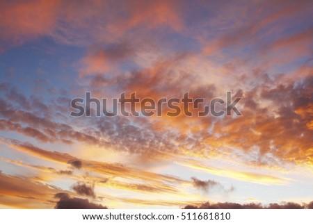 Sunlit clouds in summer sky #511681810