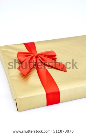 A close up shot of christmas presents #511873873