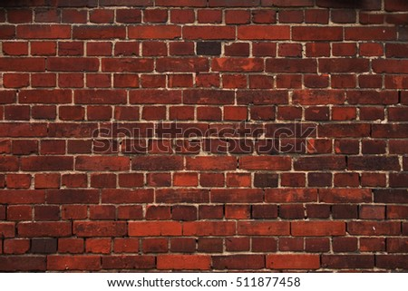 old wall texture from the red bricks #511877458