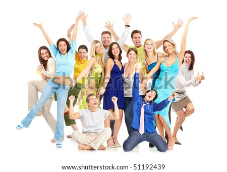 Happy funny people. Isolated over white background #51192439