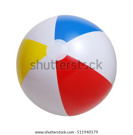 Beach ball isolated on a white background #511940179