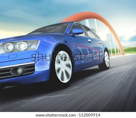 Car motion 3d rendering #512009914