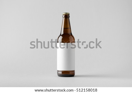 Beer Bottle Mock-Up - Blank Label Royalty-Free Stock Photo #512158018