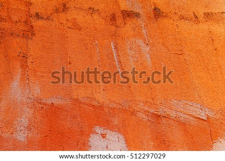 Orange vintage cement wall texture and background