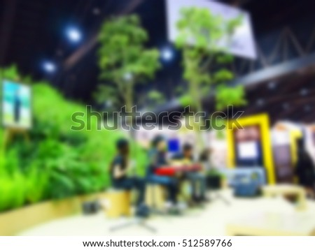Blurry focus scene of musician on stage background atmosphere. #512589766
