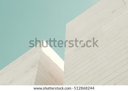 Abstract architecture. Detail of a building facade made of stone blocks #512868244