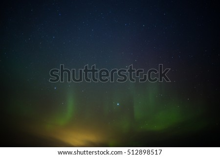 Aurora Borealis (northern lights) in Lapland, Finland. #512898517