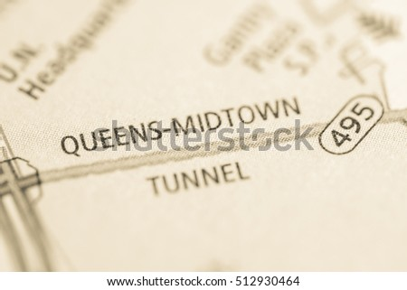 Queens Midtown Tunnel. New York. USA #512930464