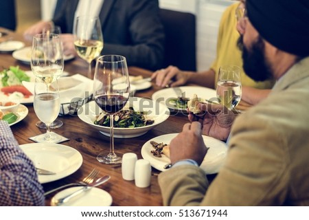 Business People Dining Together Concept #513671944