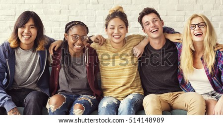 Diversity Students Friends Happiness Concept Royalty-Free Stock Photo #514148989