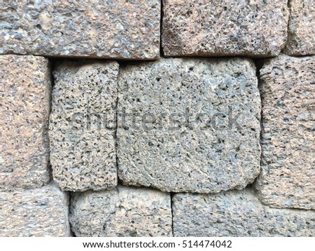 Ancient old Brick Stone Texture pattern background #514474042