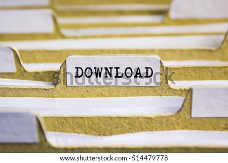 DOWNLOAD word on card index paper