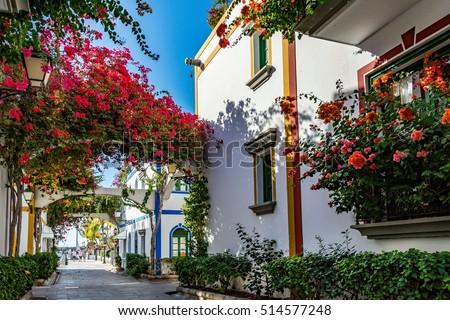Puerto de Mogan, a beautiful, romantic town on Gran Canaria, Spain  #514577248