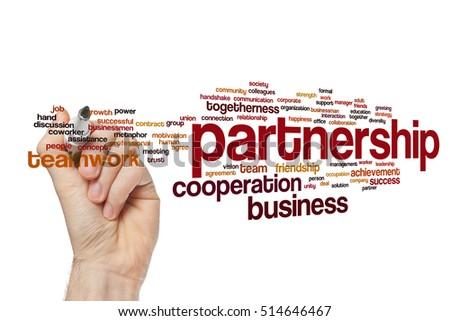 Partnership word cloud concept #514646467