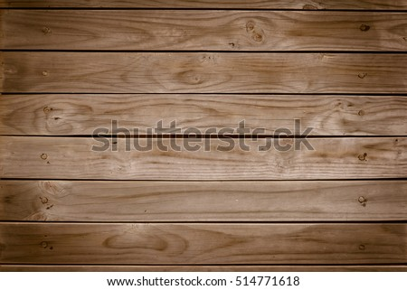 Old brown wooden wall, detailed background photo texture. Wood plank fence close up. #514771618