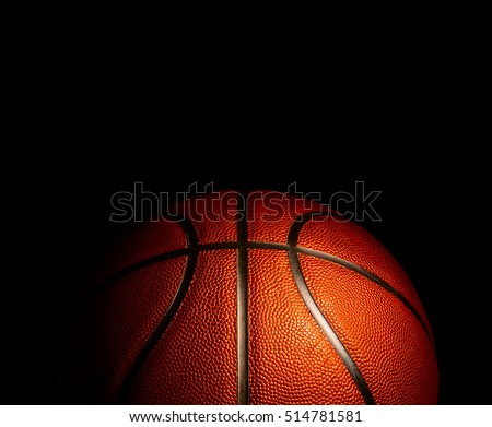 basketball on a black background