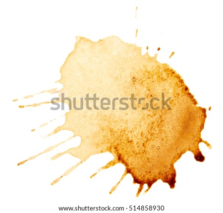 Coffee stains isolated on white background Royalty-Free Stock Photo #514858930