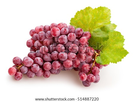 red grapes isolated #514887220