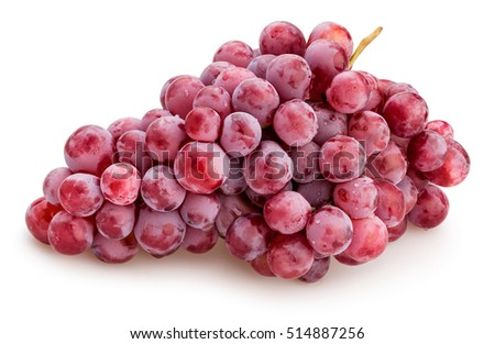 red grapes isolated #514887256