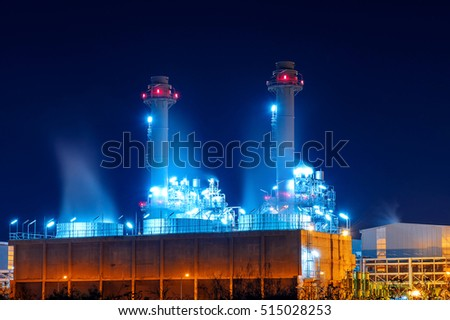 Power plant at night. #515028253