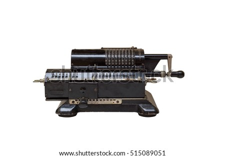 old mechanical manual counting machine for mathematical calculations #515089051