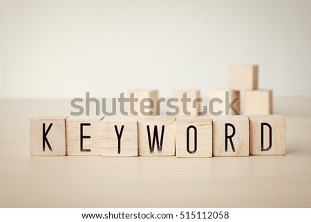 Keyword word on wooden cubes background, SEO concept #515112058