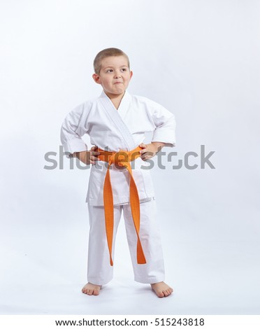 Child in karategi on a white background #515243818