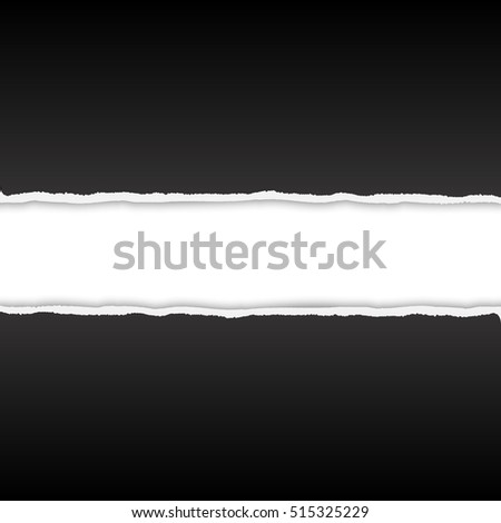 Torn paper vector background with space for text #515325229