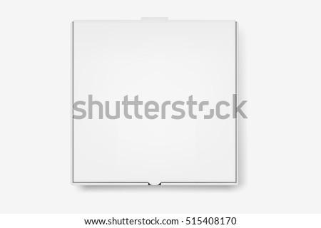 Vector white pizza box. #515408170