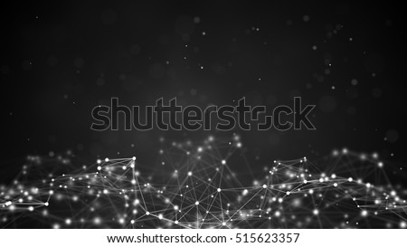 Futuristic network shape. Computer generated abstract background