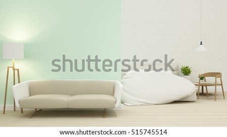 Bedroom space-3D Rendering #515745514