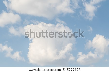 blue sky clouds #515799172