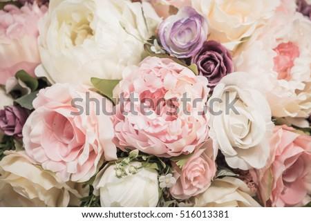 bouquet flowers background - vintage effect filter