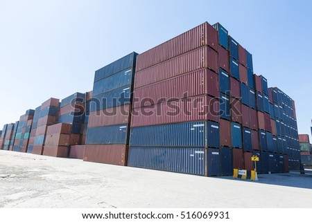 Container stacked #516069931