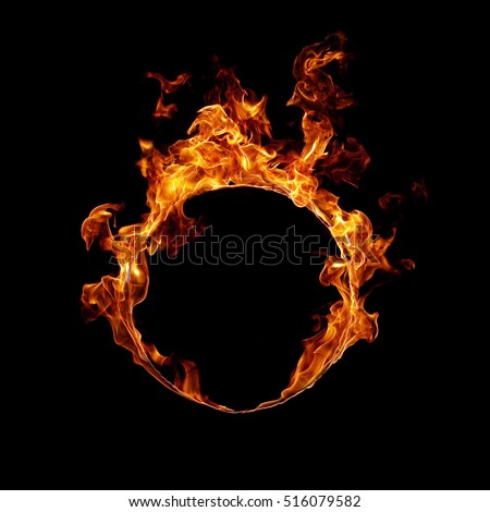 Fire ring Royalty-Free Stock Photo #516079582