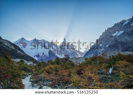 Cerro Torre in El Chalten, South Patagonia, Argentina #516135250