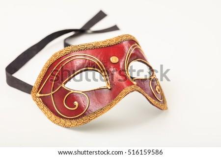 Carnival mask isolated on white background #516159586