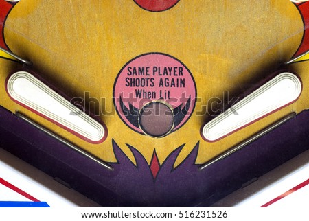 Flippers of a pinball table Royalty-Free Stock Photo #516231526