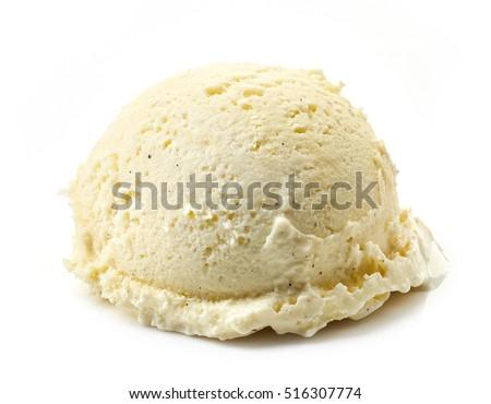 vanilla ice cream ball isolated on white background #516307774