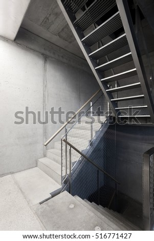 Stairs surrounded by concrete #516771427